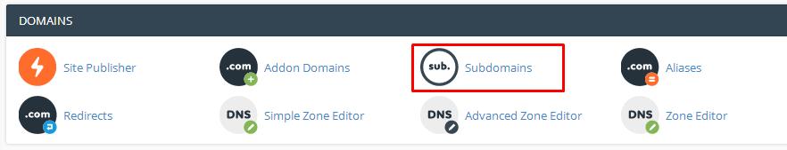 cara membuat subdomain