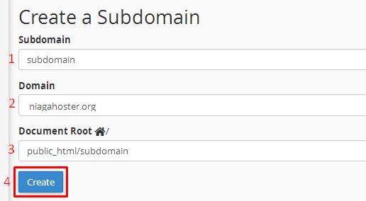 menambahkan subdomain