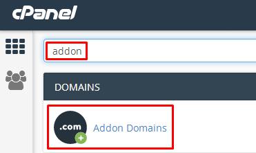 addon domain di cpanel