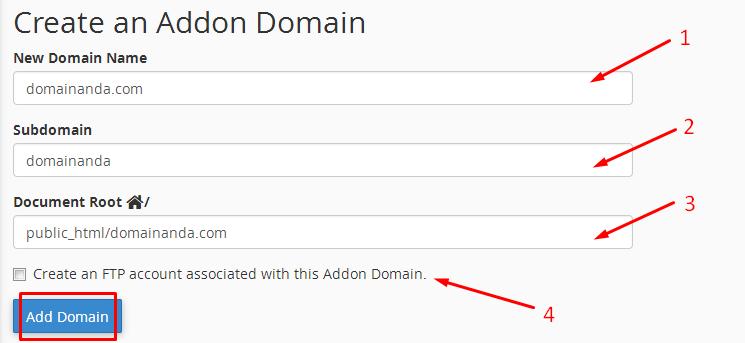 addon domain adalah