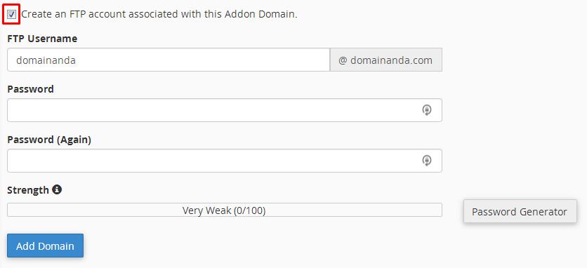 cara addon domain