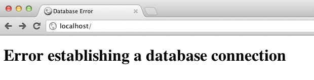 error database connection pada wordpress
