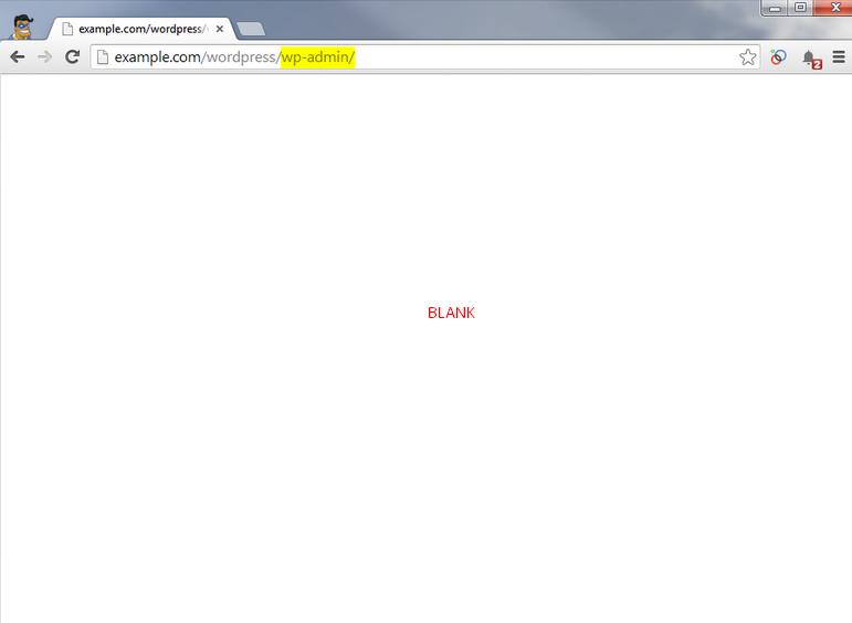 solusi wordpress blank putih
