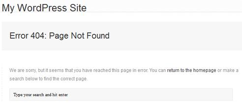error 404 pada wordpress