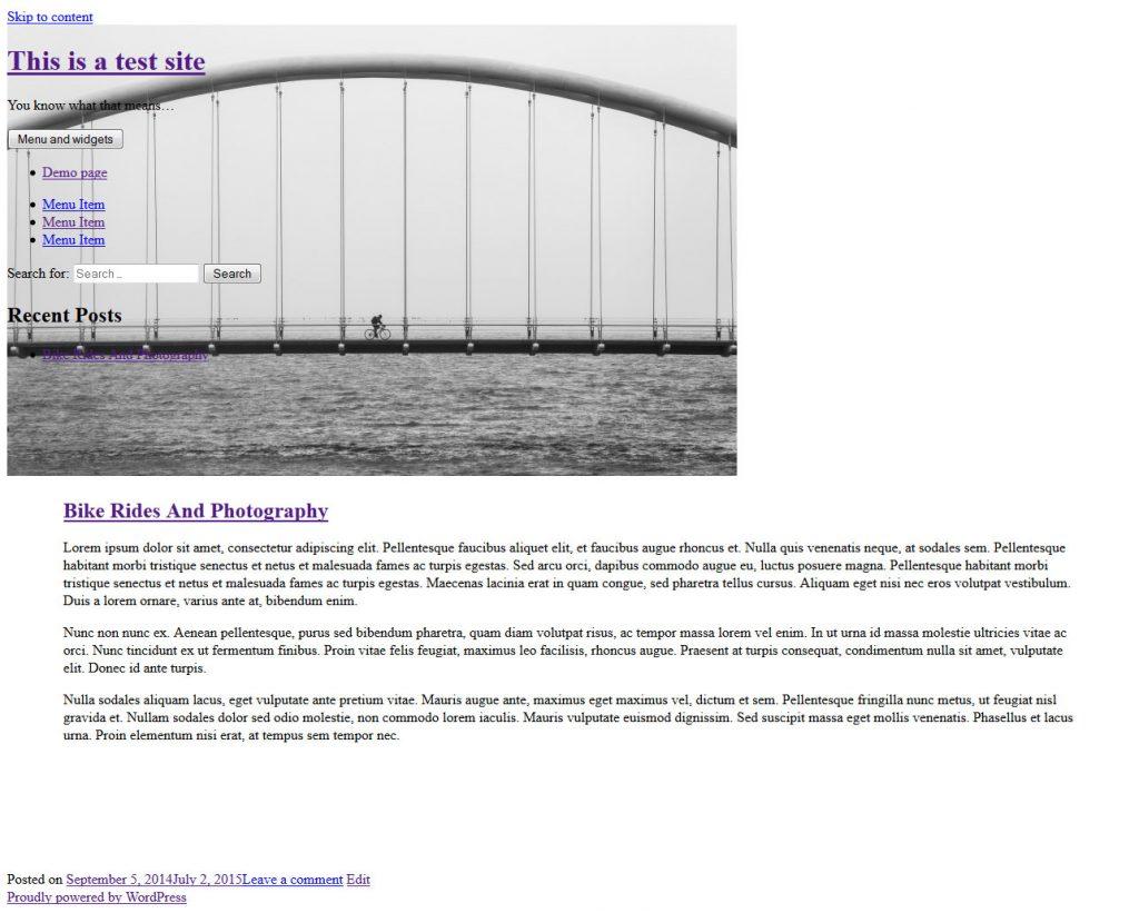 tampilan wordpress theme error