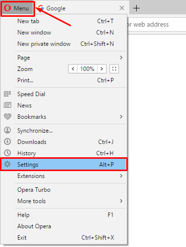 cara hapus cache browser opera
