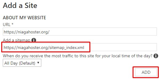 submit sitemap di bing