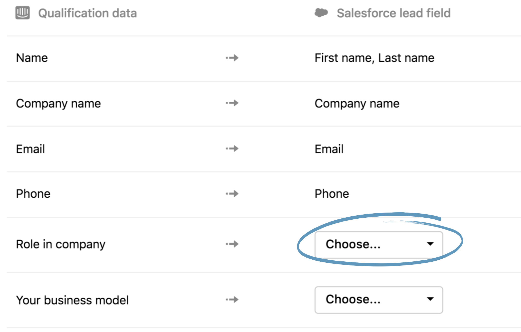 Note: You can also map other Salesforce fields that are strictly required  in order to create a lead, so that you can always create leads from the  inbox or ...