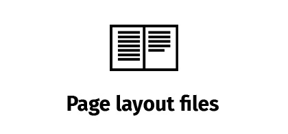 Page layout files