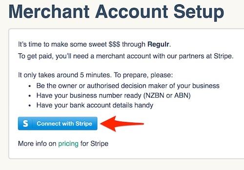Regulr merchant account setup