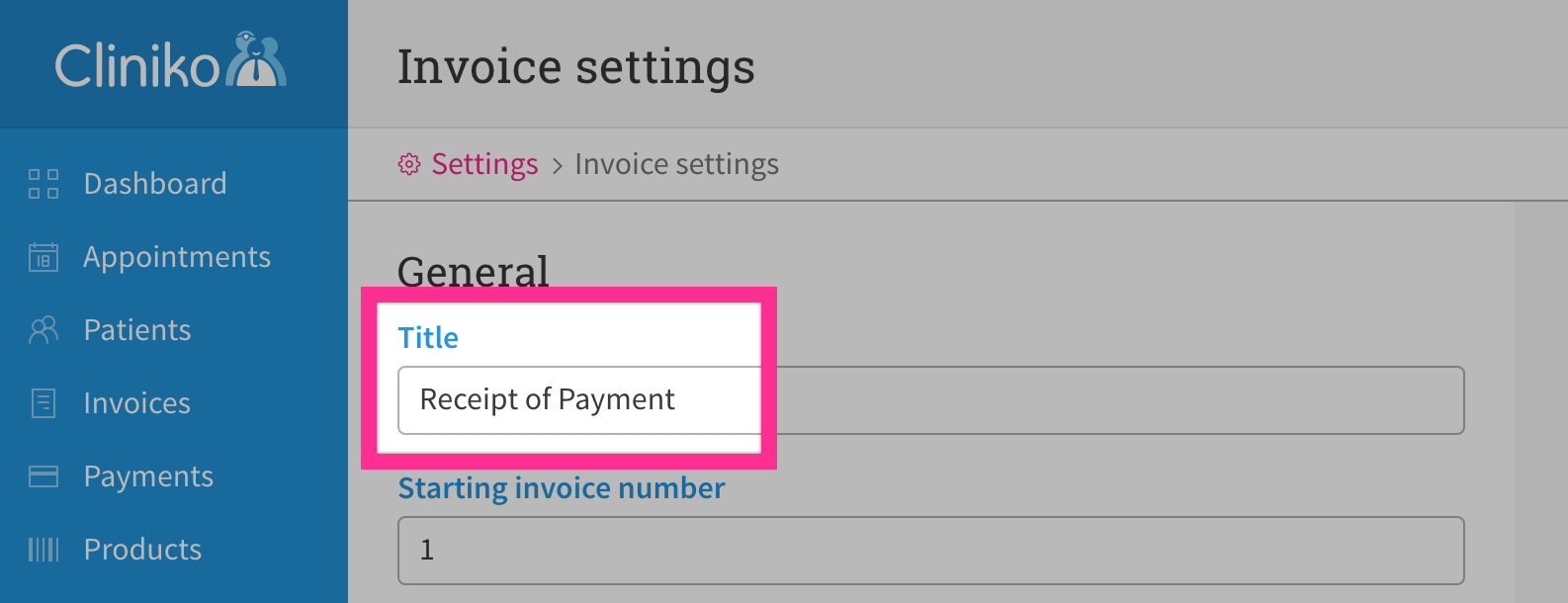 Rename Invoices Account Statements Cliniko Help - Whats an invoice