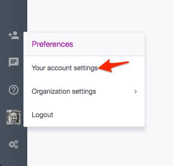 Ardoq account settings
