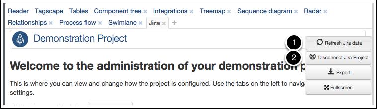Ardoq refresh data from Jira