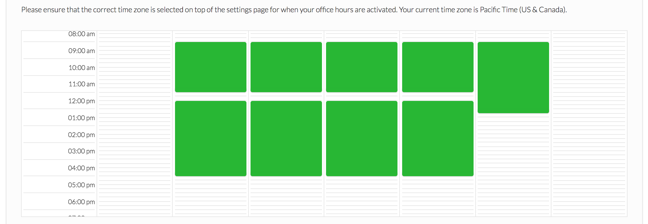Example of Office Hours Feature