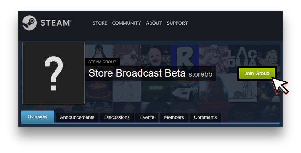 Join the Store Broadcast Beta group