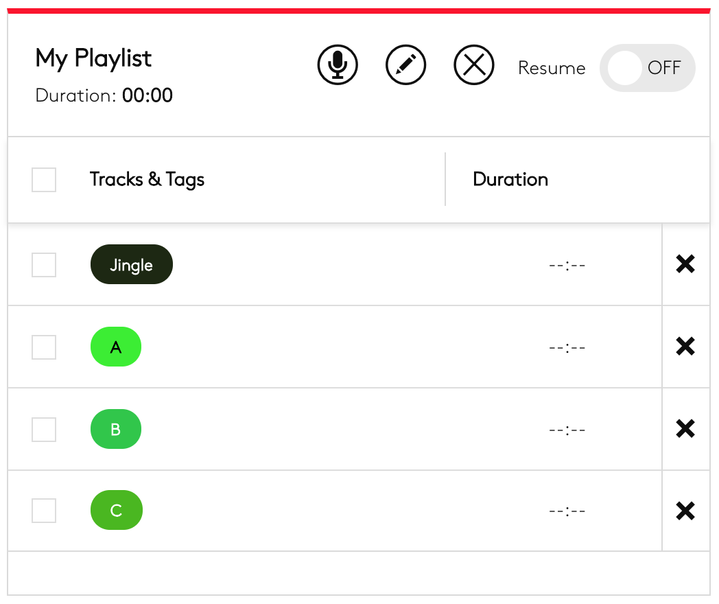 Adding tags to playlists.