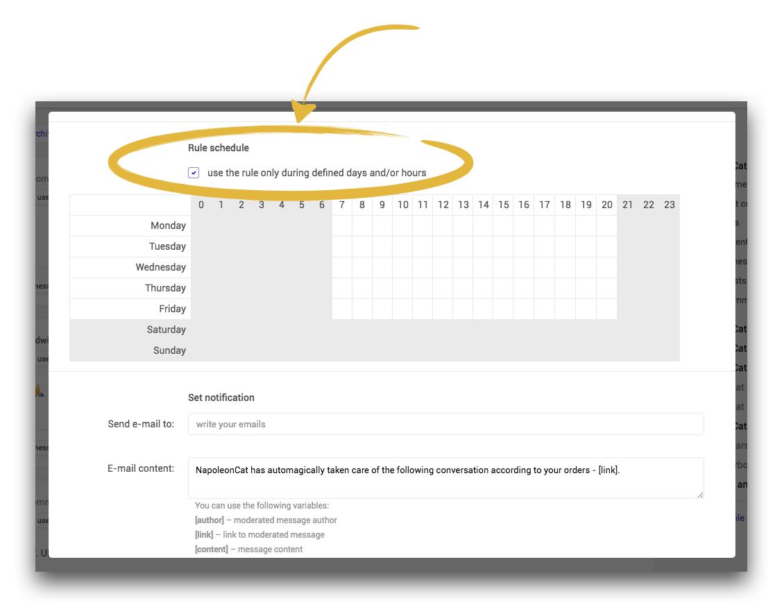 rule working schedule