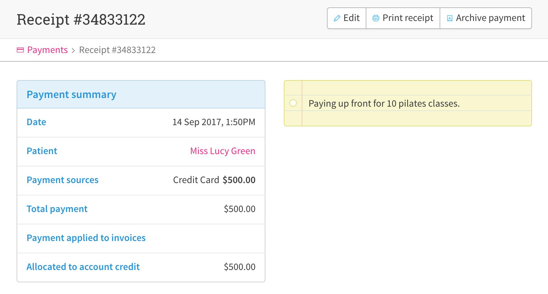 set up prepay patients and account credit cliniko help