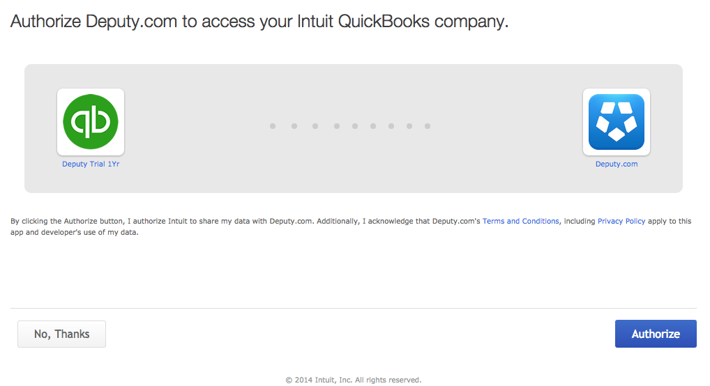 Exporting to intuit quickbooks online deputy help center in the small export window you will see that you are now connected to your quickbooks company if you wish to use an invoice line description thecheapjerseys Gallery