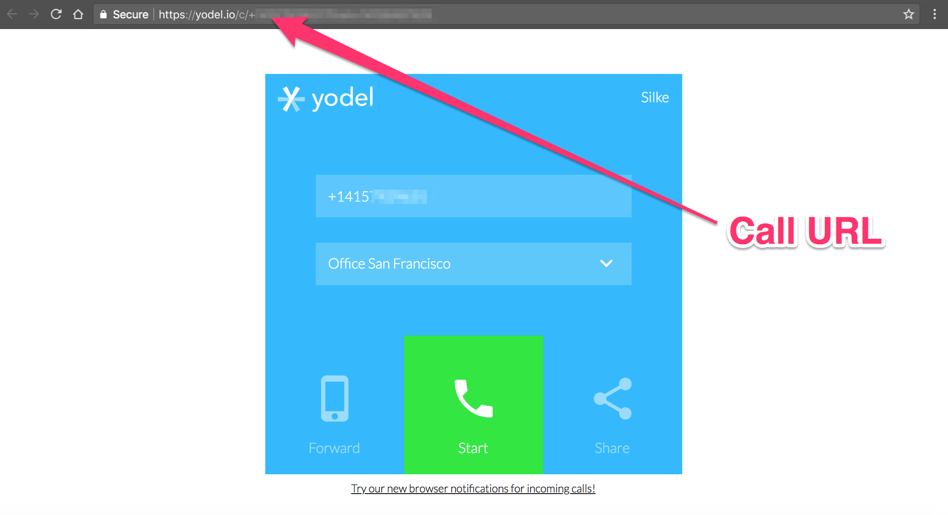 Where to Find Call Interface URL