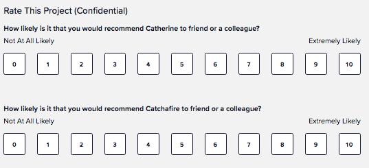 screenshot: rating a volunteer experience.