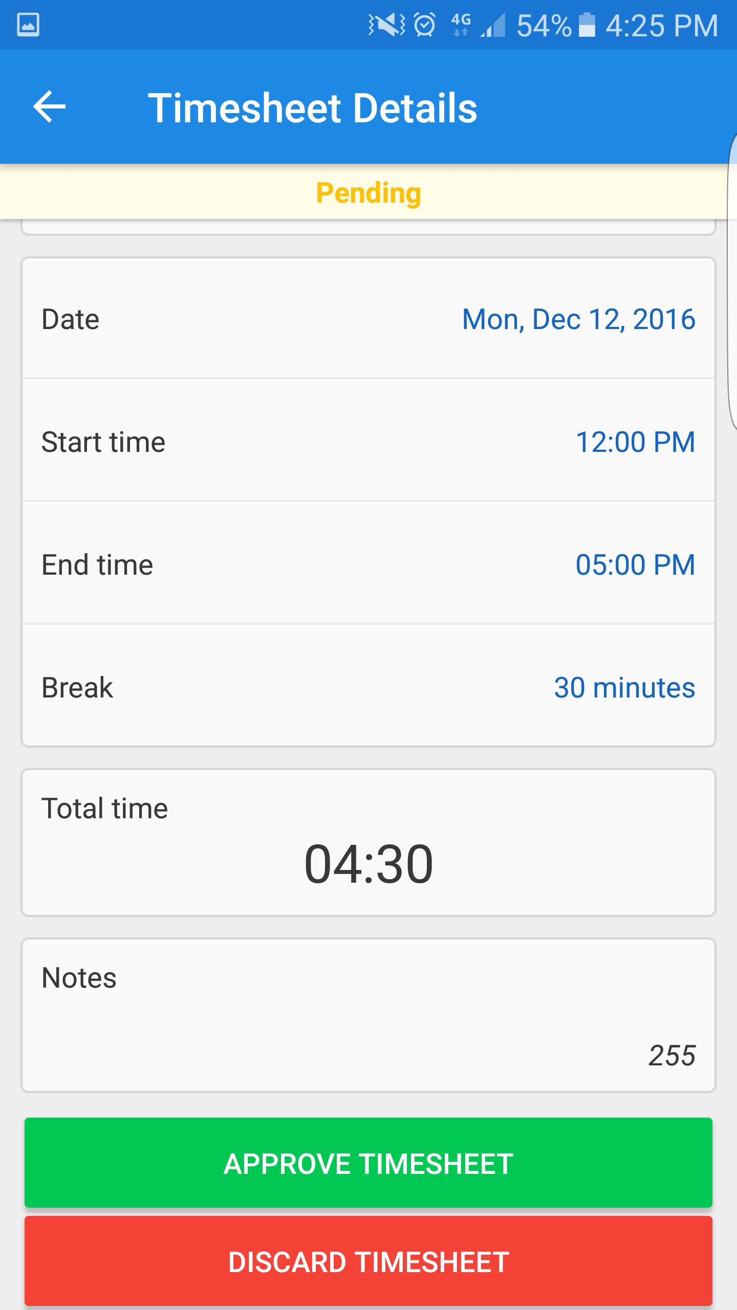 timesheet schedule
