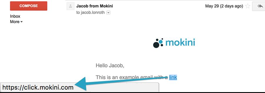standard email click link