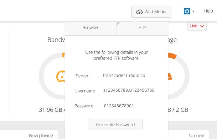 FTP radio station details.