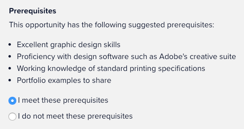 Making sure you meet the prerequisites for a project