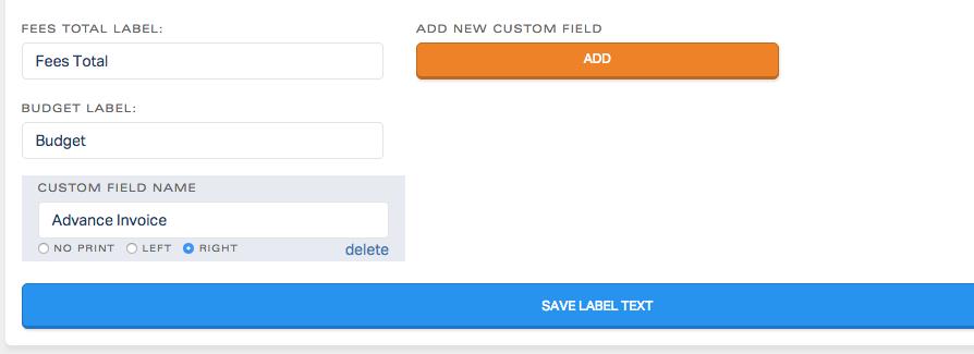 custom label text blinkbid