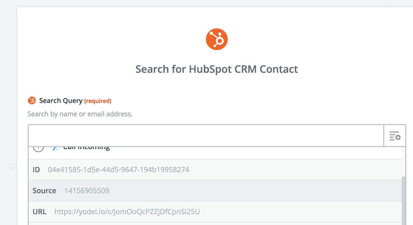 Search for HubSpot CRM Contact