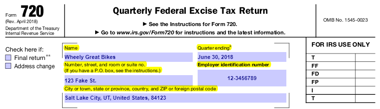 How To Complete Irs Form 720 Peoplekeep Help Center