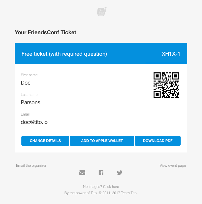 A screenshot of a ticket that's been assigned.