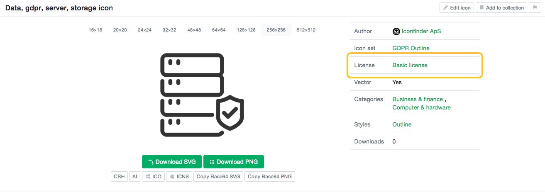 License Overview Iconfinder Knowledgebase