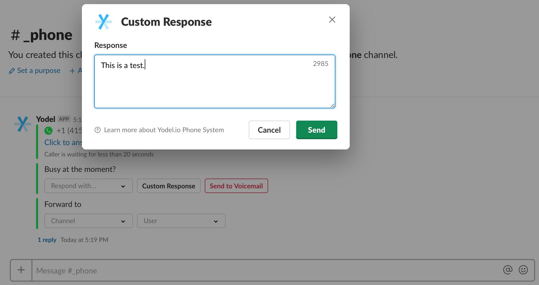 Write a Custom Response — Yodel