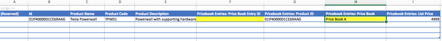 adding products to multiple salesforce price books with CloudExtend