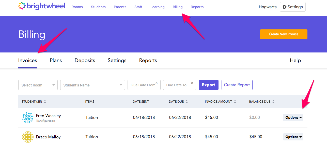 How To Edit Paid Invoices Brightwheel Help Center - Invoice 4 you