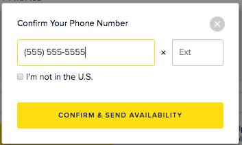 Update your phone number for a call