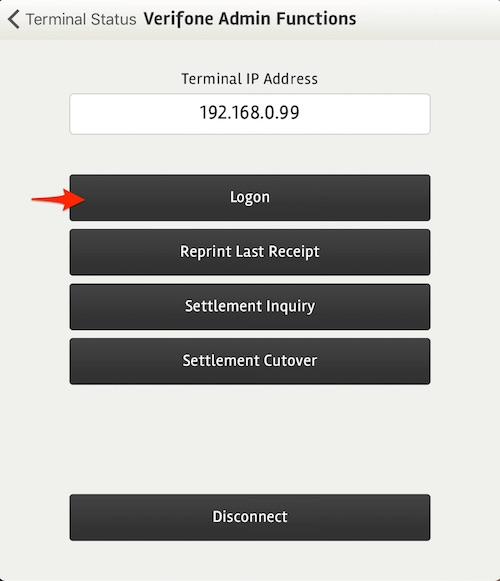 posBoss Eftpos Settings - Verifone Admin Functions