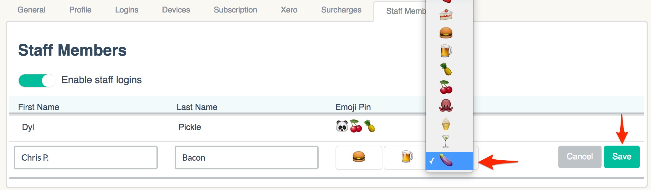 Selecting Emojis