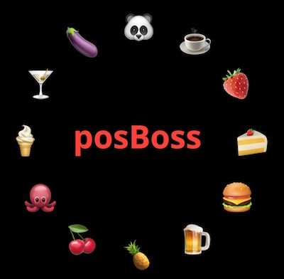 posBoss Login screen
