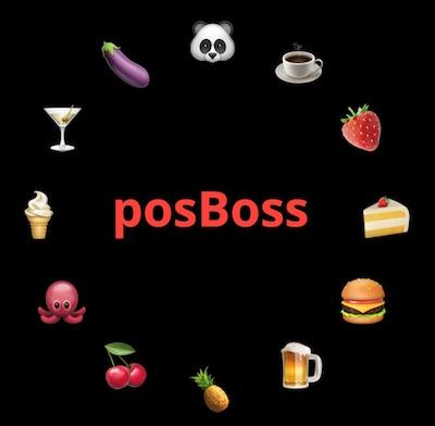 posBoss Login screen