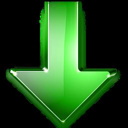imagem ilustrativa: uma seta verde, apontando para baixo