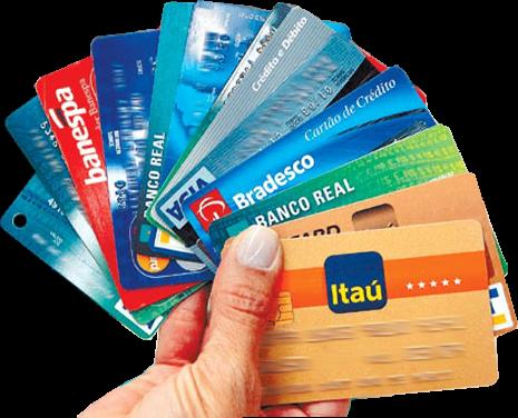 imagem de uma mão segurando diversos cartões, em forma de leque.