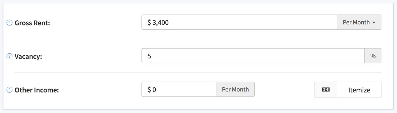 Rental income worksheet
