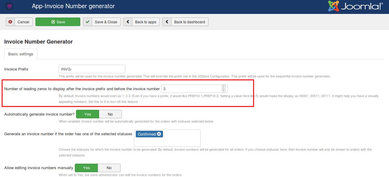 Invoice Prefix Generator JStore Help Center - Invoice number generator