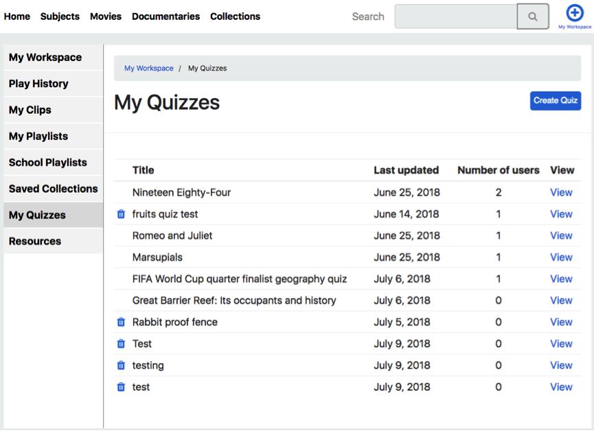 My Quizzes Enhancetv Help Center