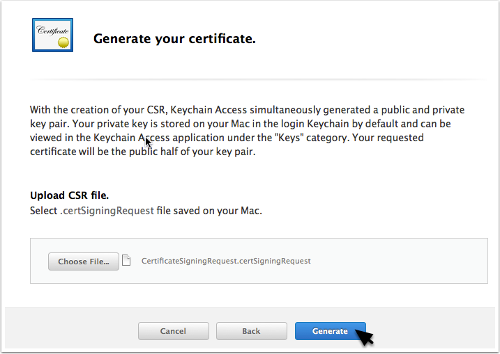 The Apple Part Certificate And Provisioning Profile Pushbots