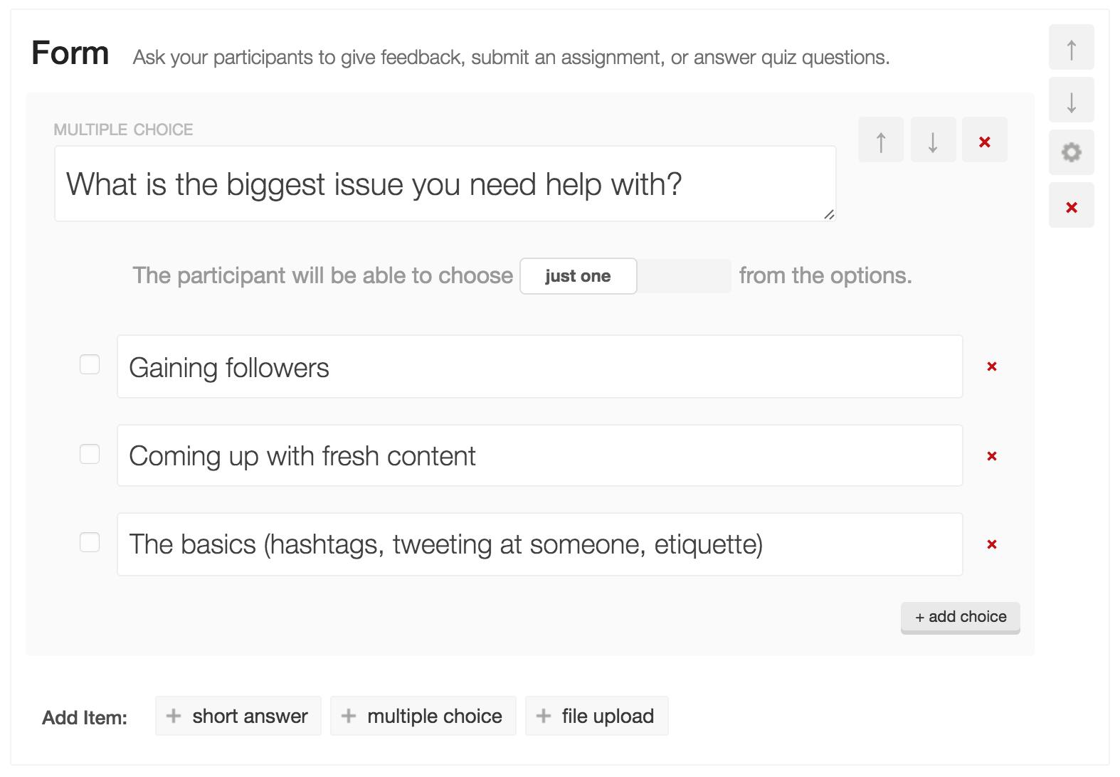 Creating a Form or a Quiz | CourseCraft Help Docs