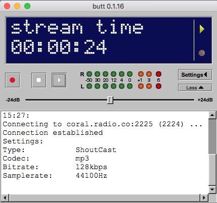 BUTT broadcasting online.